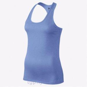 Nike Dri Fit Balance Tank Top Workout Light Blue